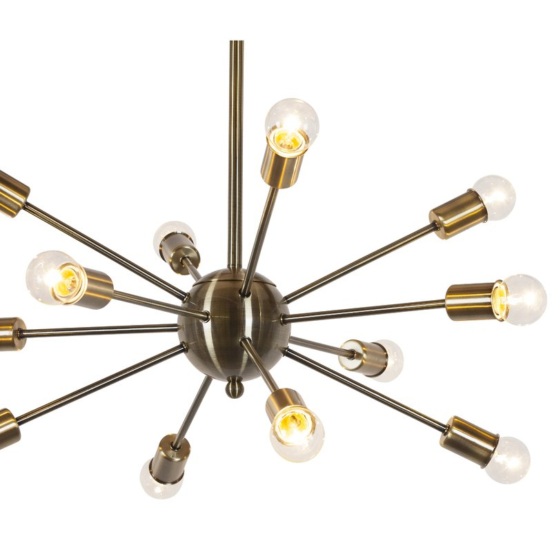 Vroman 12 Light Sputnik Chandeliers Pertaining To Most Current Vroman 12 Light Sputnik Chandelier (View 17 of 25)