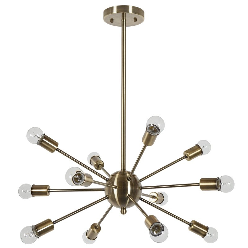 Vroman 12 Light Sputnik Chandeliers Regarding Newest Vroman 12 Light Sputnik Chandelier (View 18 of 25)