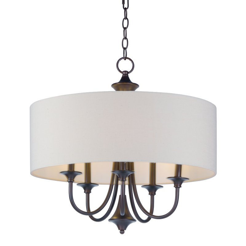 Wadlington 5 Light Drum Chandelier Pertaining To Most Current Hayden 5 Light Shaded Chandeliers (View 20 of 25)