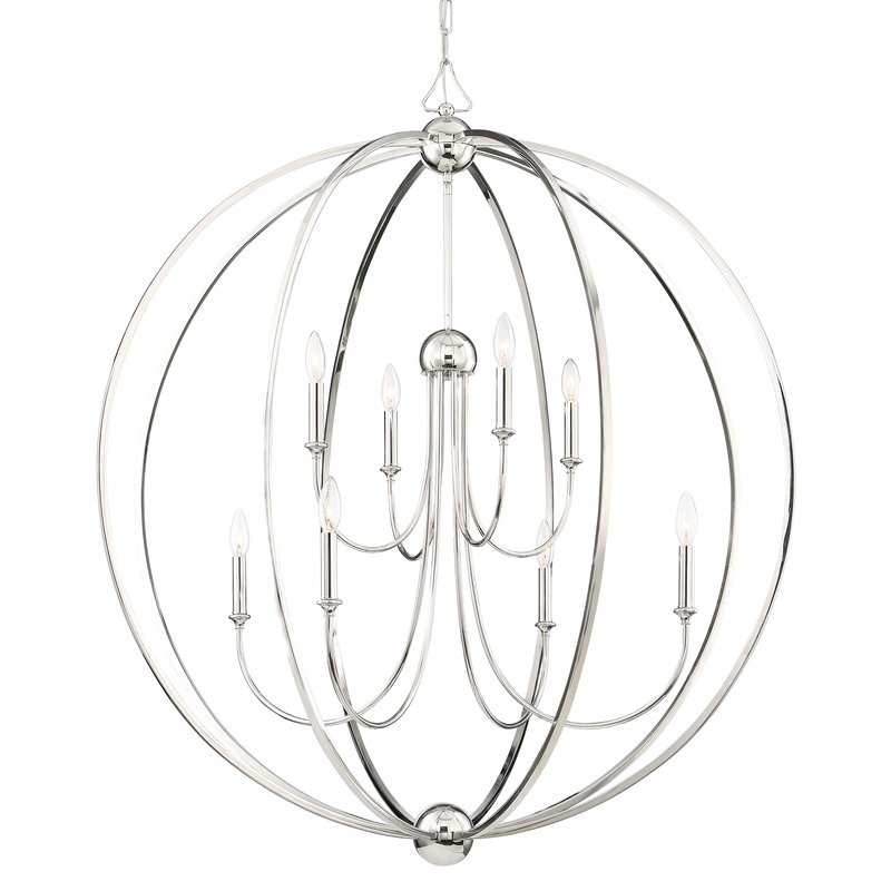 Watford 6 Light Candle Style Chandeliers For Fashionable Fabela 8 Light Globe Chandelier (View 18 of 25)