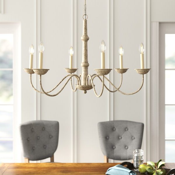 Watford 9 Light Candle Style Chandeliers Pertaining To Favorite Seneca 6 Light Candle Style Chandelier (View 11 of 25)