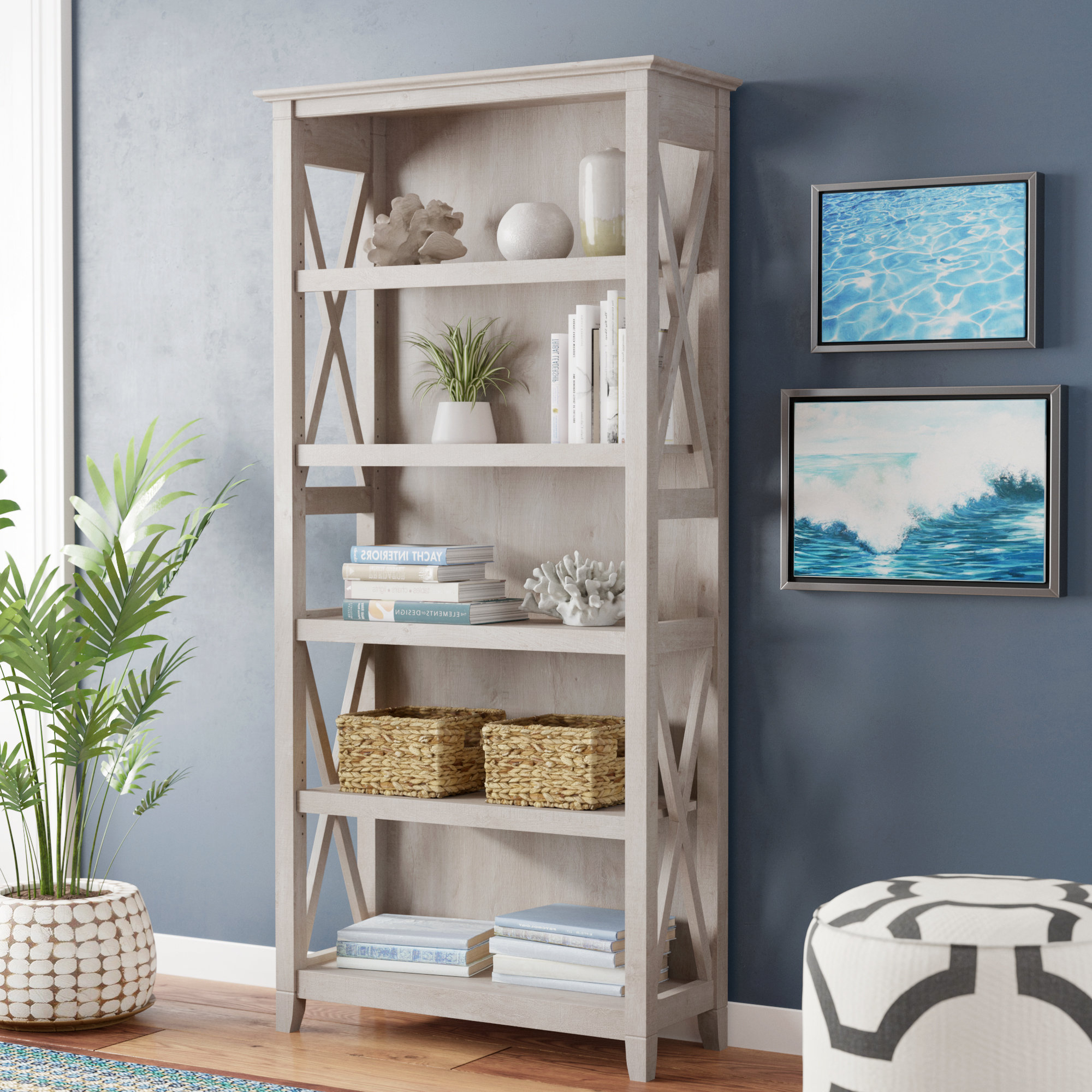 Wayfair For Ardenvor Etagere Standard Bookcases (View 5 of 20)