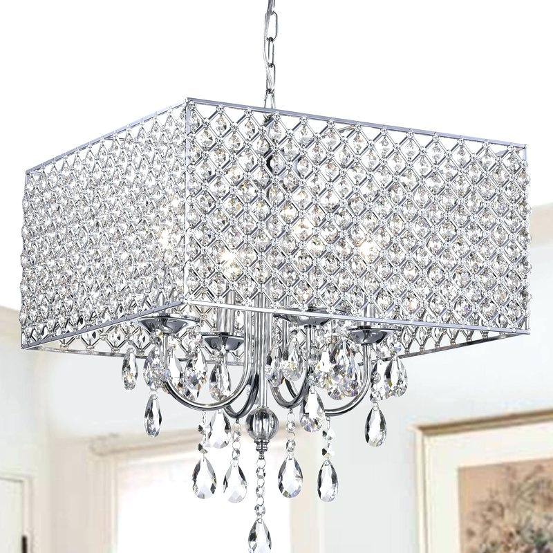 Well Known Albano 4 Light Crystal Chandeliers For Metal And Crystal Chandelier – Mobilejesus (View 16 of 25)