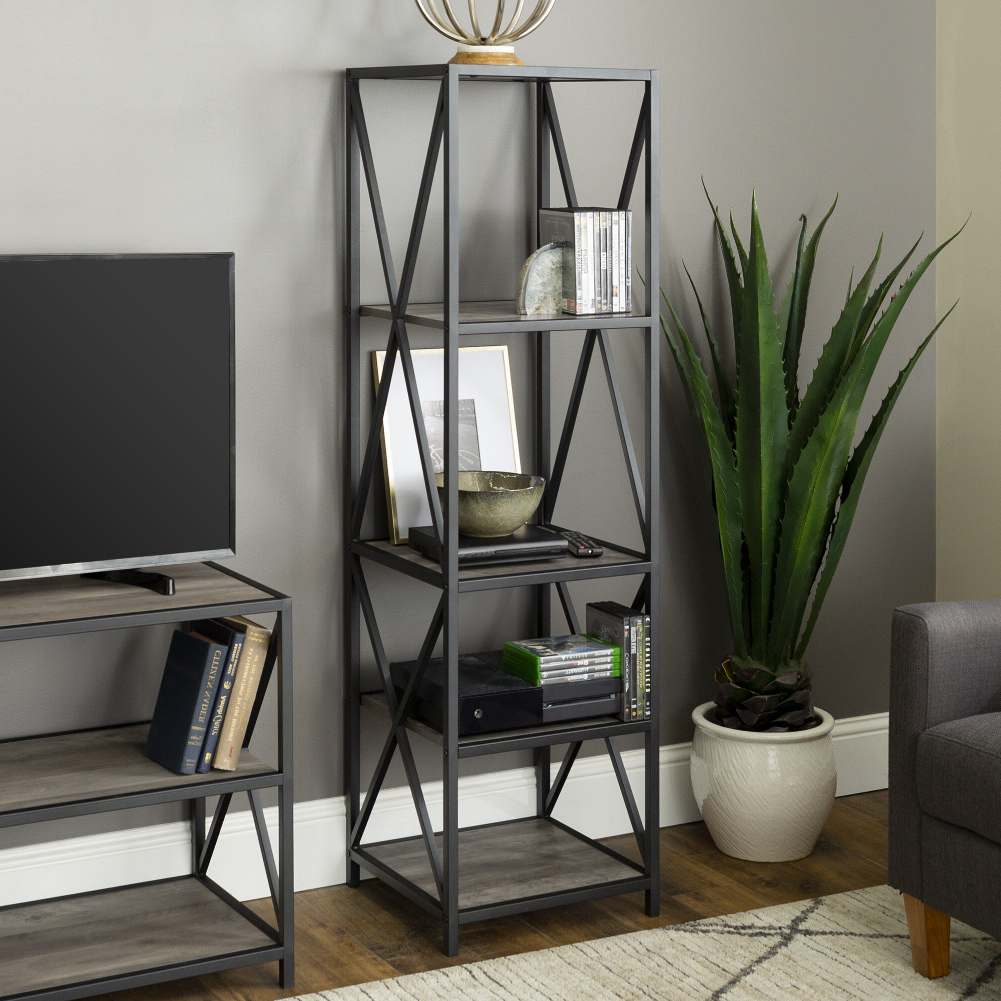 Well Known Augustus Etagere Bookcase With Regard To Augustus Etagere Bookcases (View 17 of 20)