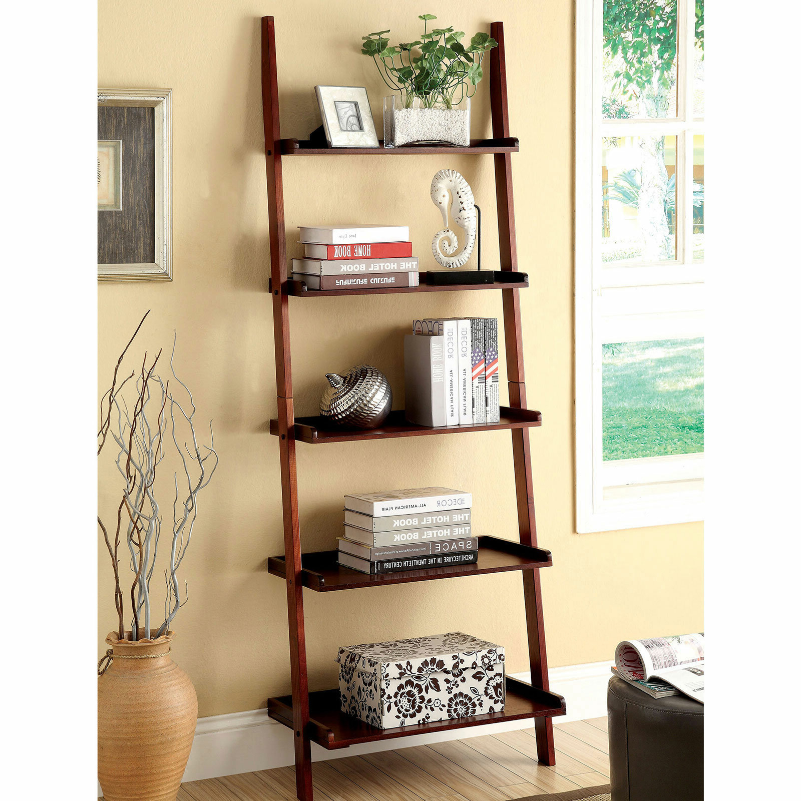 Well Known Averett Ladder Bookcases For Ladder Style Shelving – Vascular (View 18 of 20)
