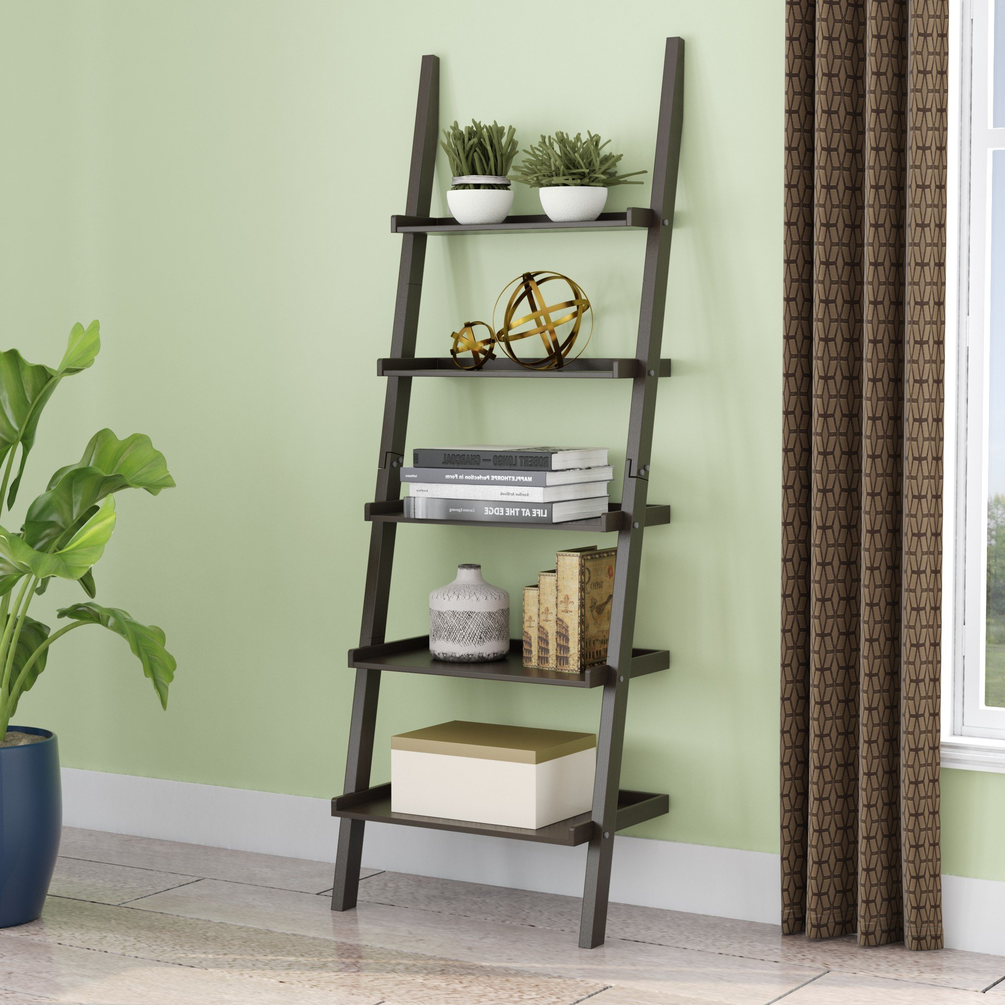 Well Known Averett Ladder Bookcases Pertaining To Updike Ladder Bookcase (View 12 of 20)