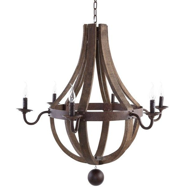 Well Known Ballista Wine Barrel Chandelier – Overstock (View 15 of 25)