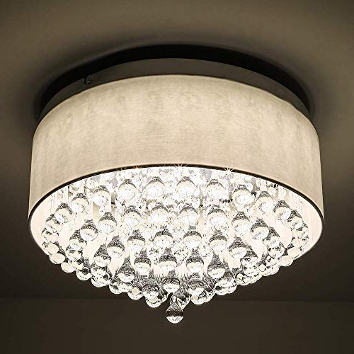 Well Known Breithaup 7 Light Drum Chandeliers Inside Dimmable Drum Chandelier Lighting: Amazon (View 24 of 25)