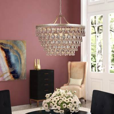 Well Known Burrier 5 Light Kitchen Island Pendant Pertaining To Bramers 6 Light Novelty Chandeliers (View 25 of 25)