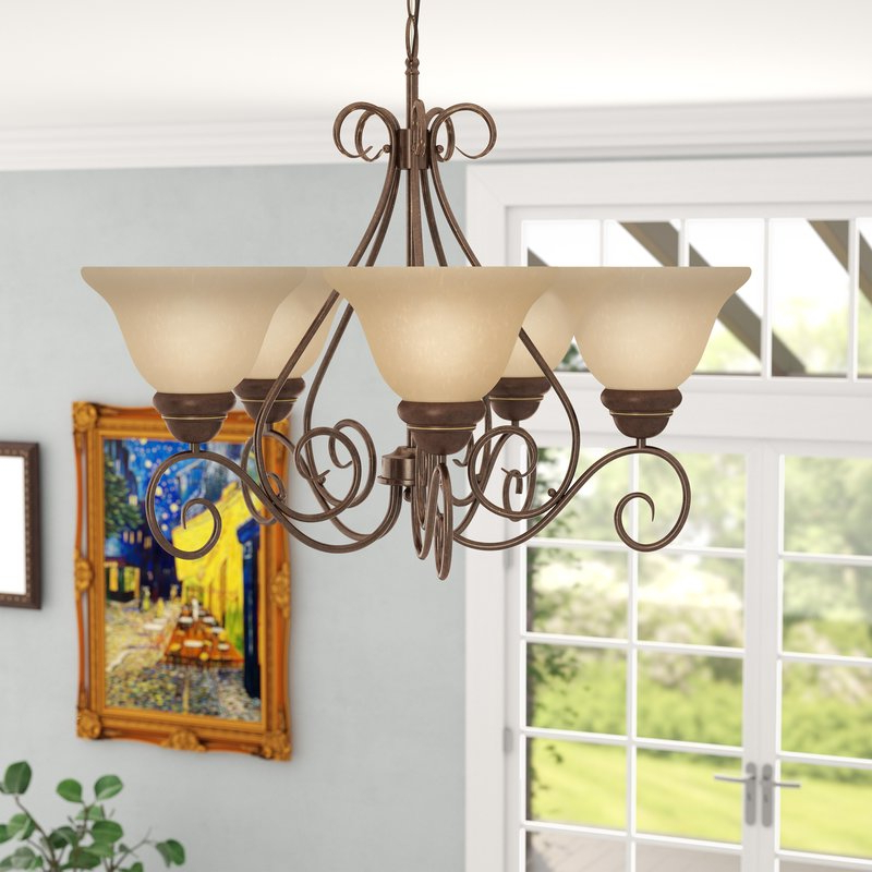 Well Known Claycomb 5 Light Shaded Chandelier Regarding Gaines 5 Light Shaded Chandeliers (View 20 of 25)