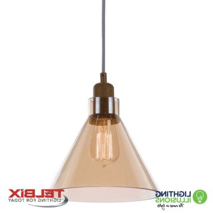 Well Known Clear Telbix Alden Single Glass Pendant Light With Regard To Alden 3 Light Single Globe Pendants (View 17 of 25)