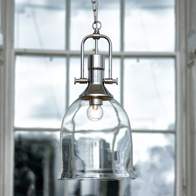 Well Known Dar Nolan Dual Mount Glass Ceiling Pendant Light – Polished Throughout Nolan 1 Light Lantern Chandeliers (View 15 of 25)