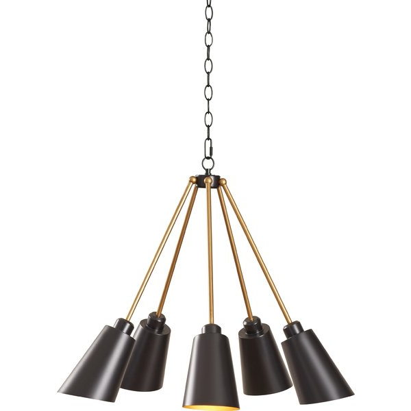 Well Known Eastbourne 6 Light Unique / Statement Chandeliers Within Modern & Contemporary Gold Starburst Chandelier (View 21 of 25)