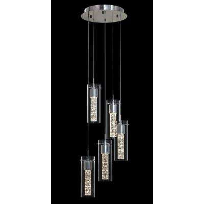 Well Known Essence 30 Watt Chrome Integrated Led Pendant For Dirksen 3 Light Single Cylinder Chandeliers (View 21 of 25)