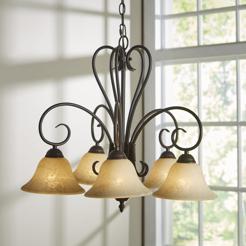 Well Known Gaines 5 Light Shaded Chandelier Regarding Gaines 5 Light Shaded Chandeliers (View 21 of 25)