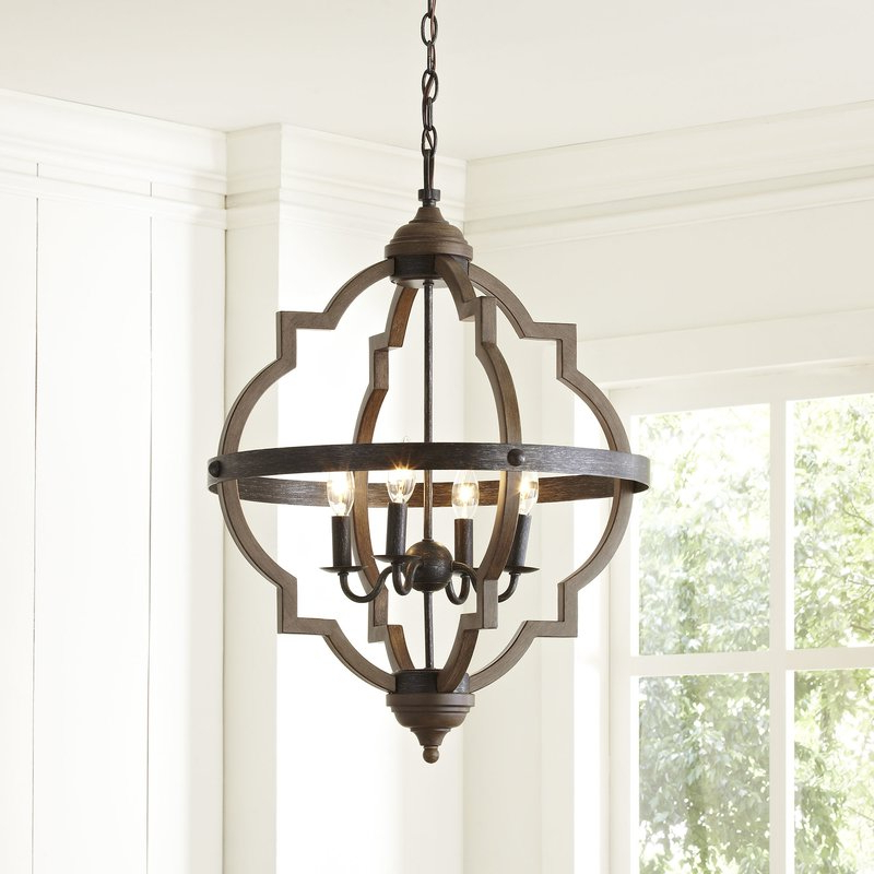 Well Known Gaines 5 Light Shaded Chandeliers For Fixer Upper Lighting For Your Home – The Weathered Fox (View 22 of 25)