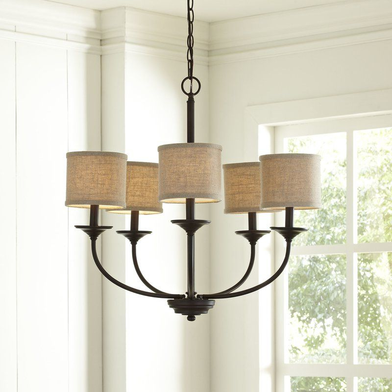 Well Known Gaines 5 Light Shaded Chandeliers With Regard To Nisswa 5 Light Shaded Chandelier In  (View 23 of 25)