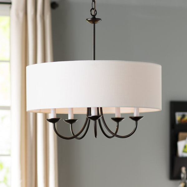 Well Known Gaines 5 Light Shaded Chandeliers Within Burton 5 Light Drum Chandelier (View 24 of 25)
