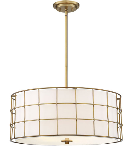 Well Known Hayden 5 Light 25 Inch Warm Brass Pendant Ceiling Light For Hayden 5 Light Shaded Chandeliers (View 23 of 25)