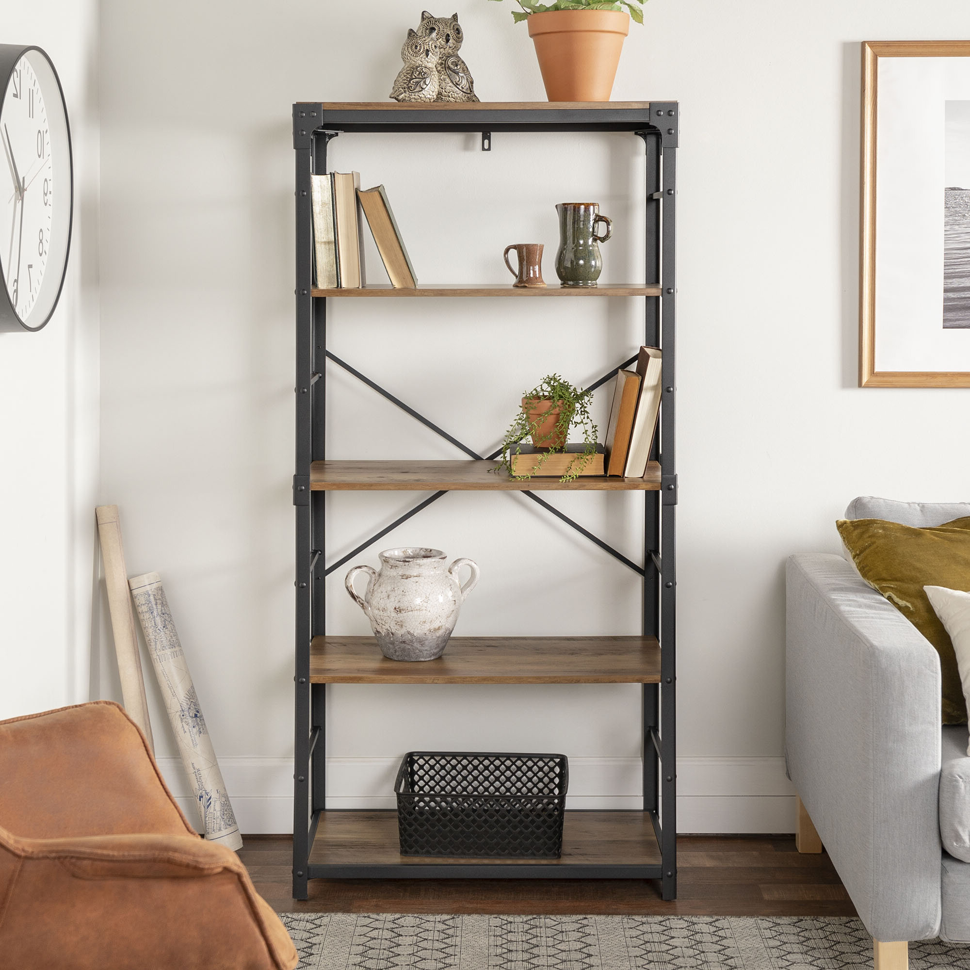 Well Known Hera Etagere Bookcases Throughout Cecelia Etagere Bookcase (View 19 of 20)