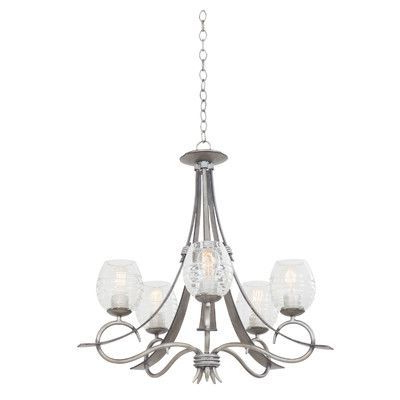 Well Known Kalco Seabrook 5 Light Shaded Chandelier (View 24 of 25)