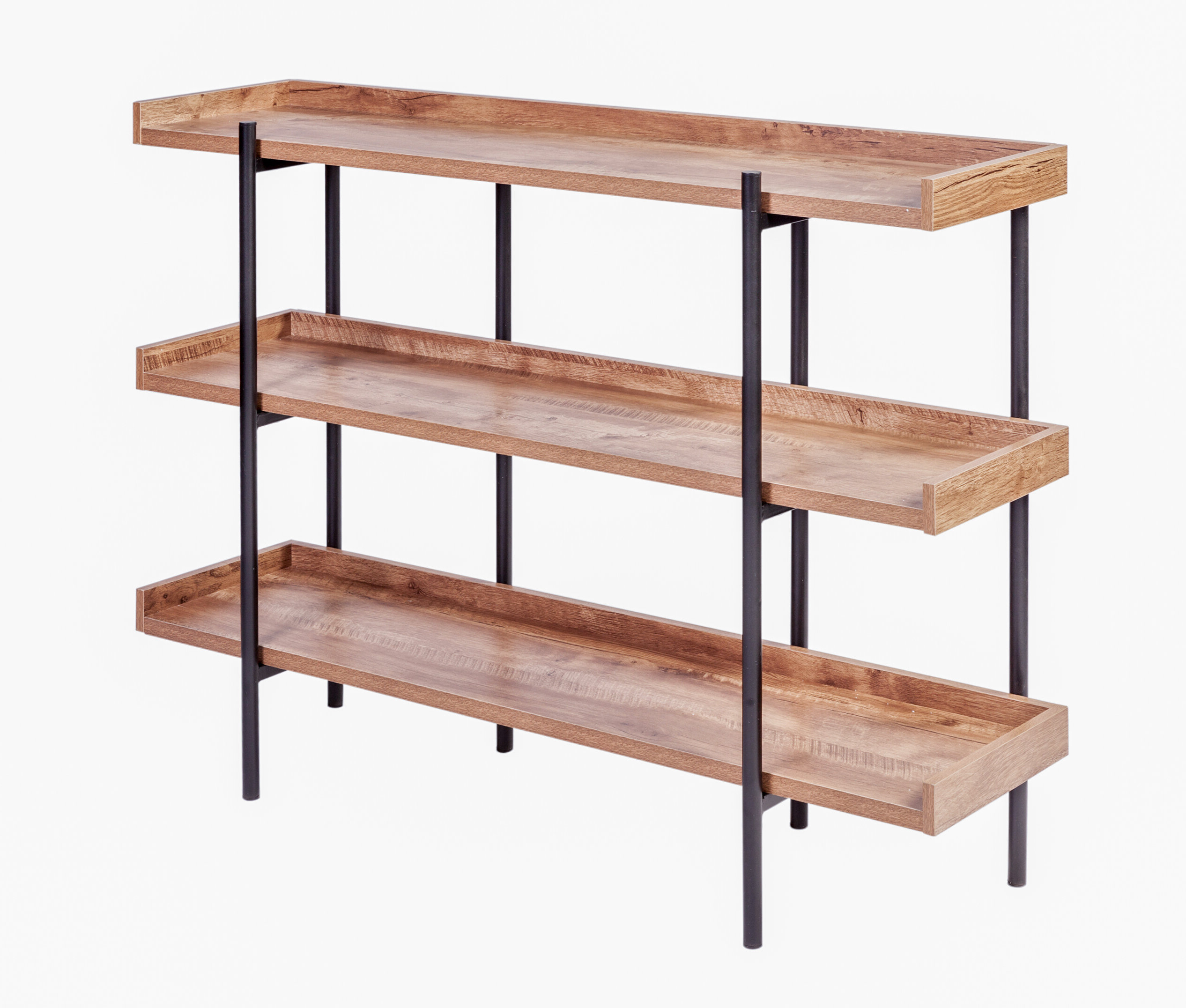 Well Known Modern Rustic Interiors Parker Modern Etagere Bookcase Pertaining To Parker Modern Etagere Bookcases (View 19 of 20)
