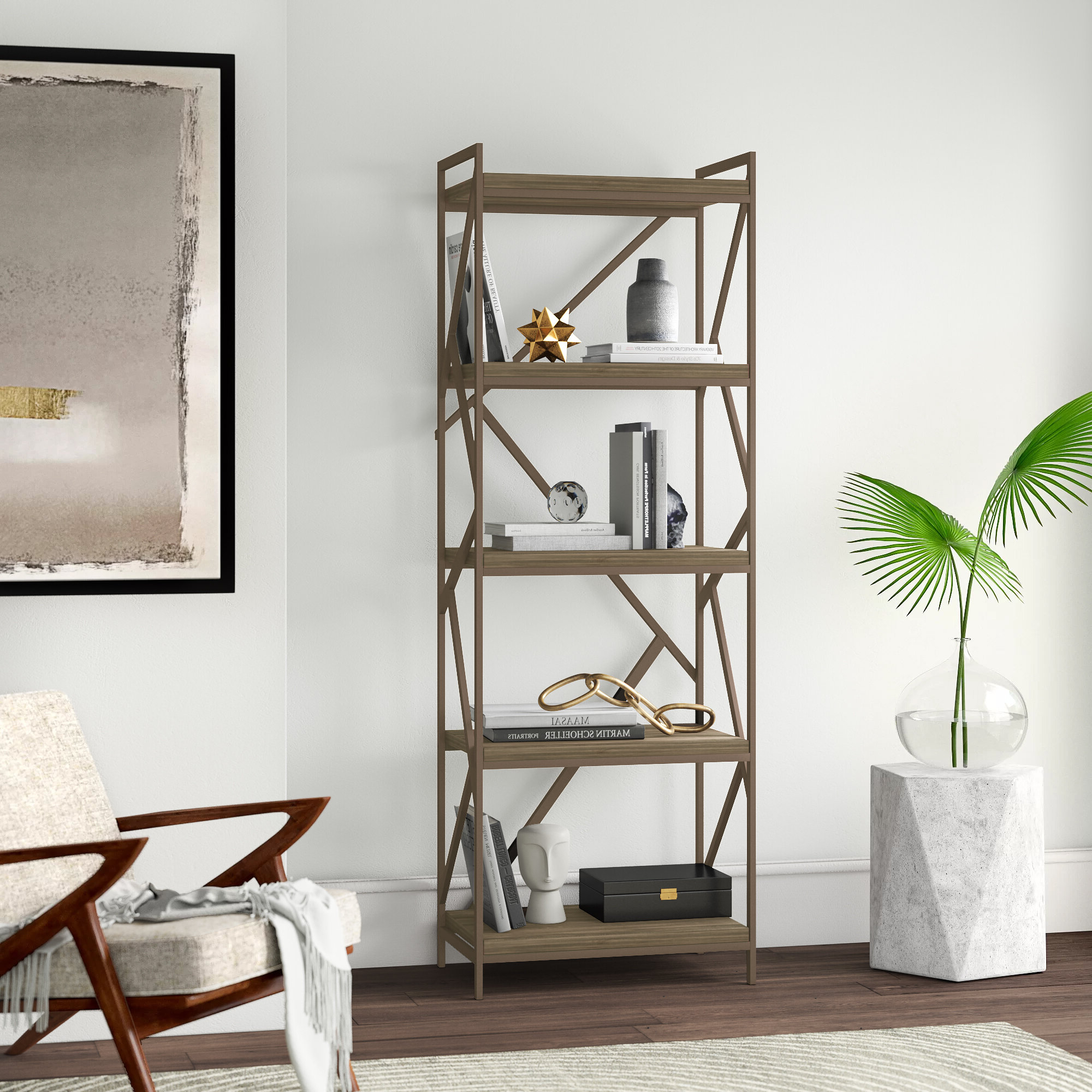 Well Known Oakside Etagere Bookcases In Derwood Etagere Bookcase (View 5 of 20)