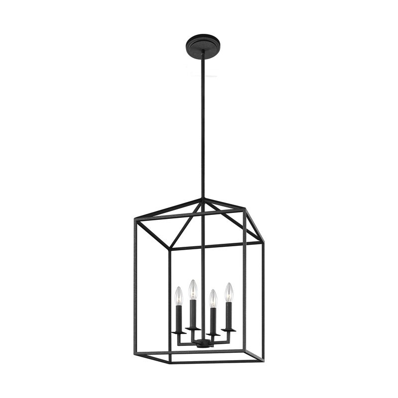 Well Known Odie 4 Light Lantern Square/rectangle Pendant Within 4 Light Lantern Square / Rectangle Pendants (View 5 of 25)