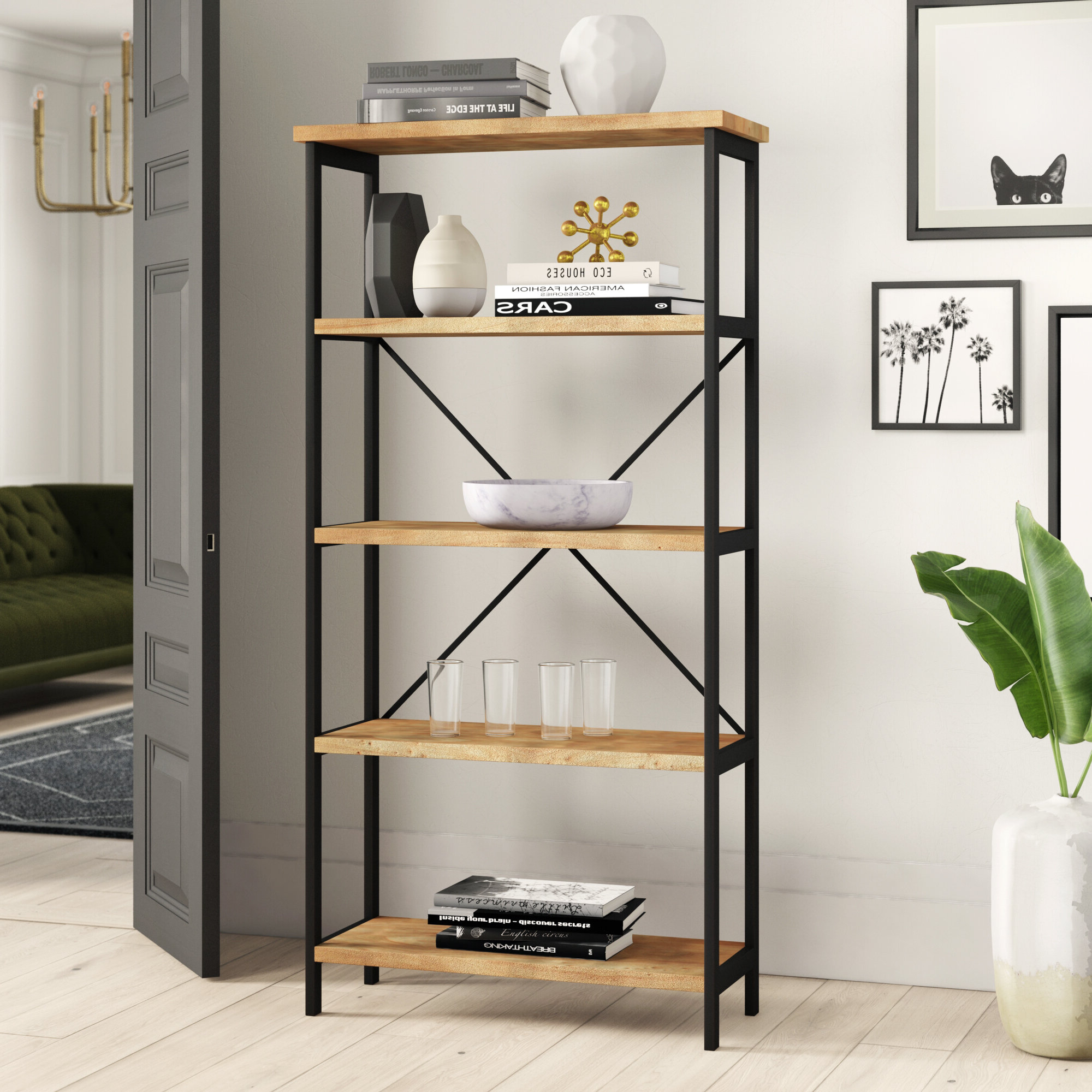 Well Known Parthenia Etagere Bookcase Within Macon Etagere Bookcases (View 9 of 20)