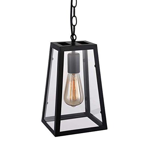 Well Known Pendant Style Lantern: Amazon Inside Louanne 1 Light Lantern Geometric Pendants (View 25 of 25)