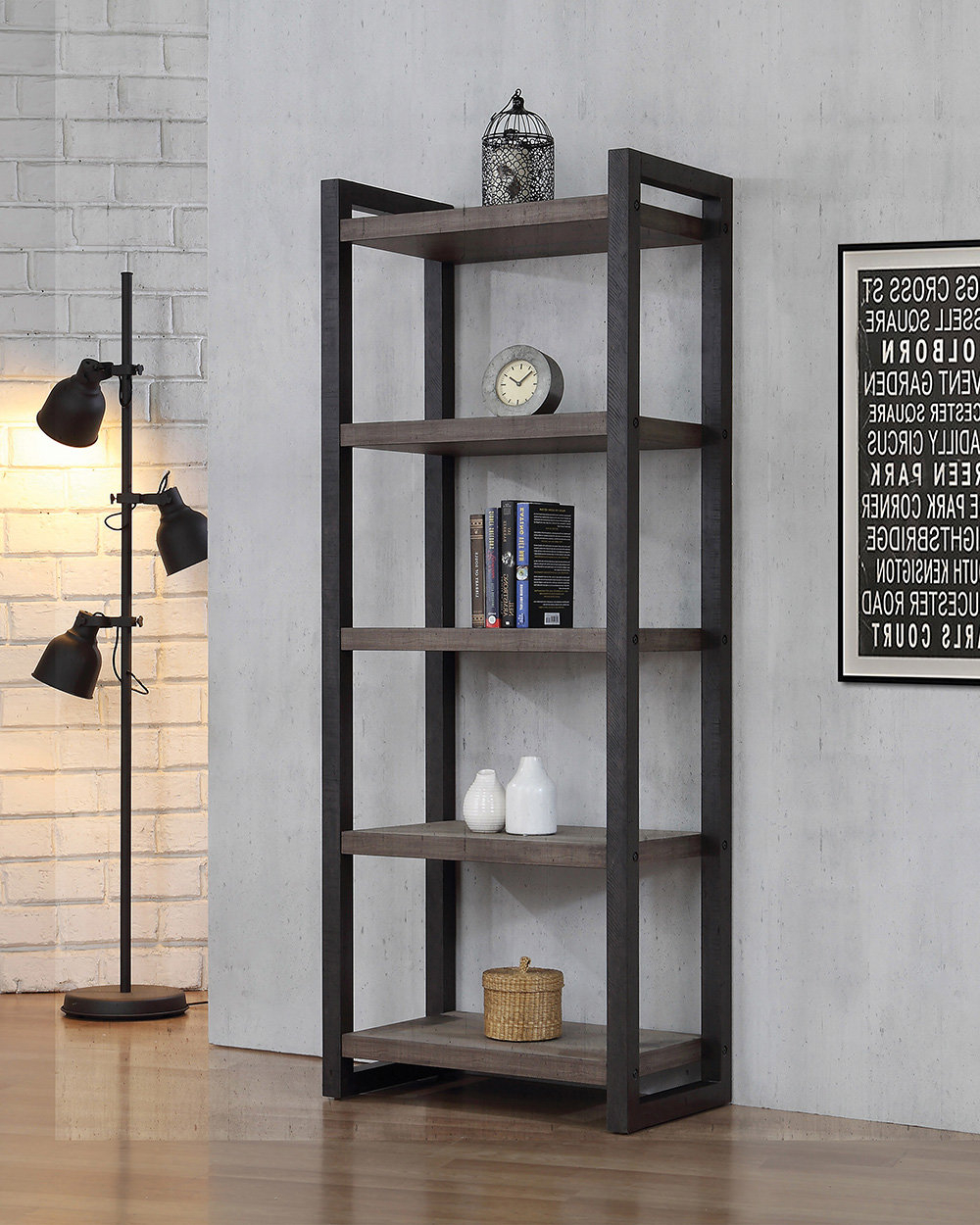 Well Known Saskia Etagere Bookcases Inside Carner Etagere Bookcase (View 6 of 20)