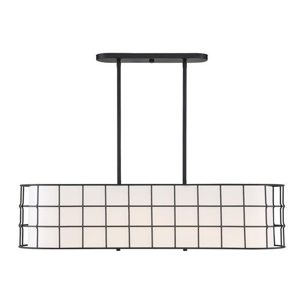 Well Known Shop Hayden 5 Lights Black Linear Chandelier – Free Shipping Regarding Hayden 5 Light Shaded Chandeliers (View 25 of 25)