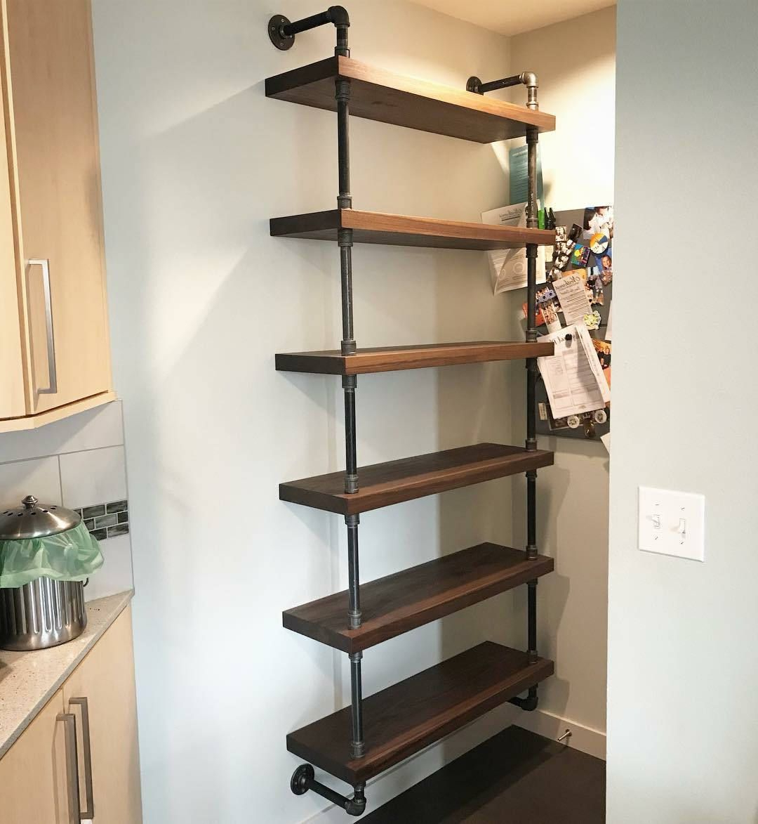 Well Known Swindell Etagere Bookcases In Beckett 48 5 Tier Wall Shelf Sable Reviews Crate And Barrel (View 16 of 20)
