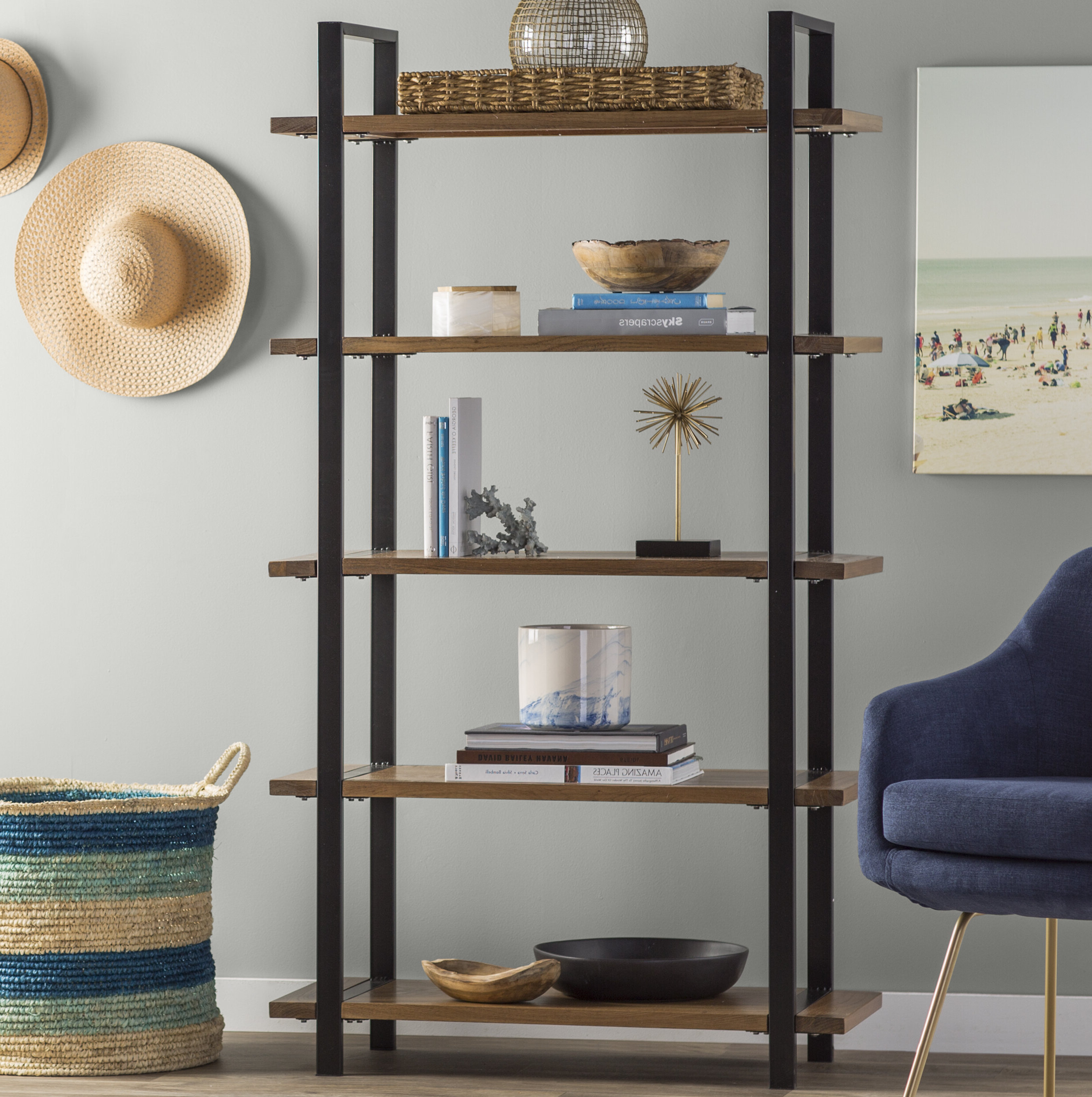 Well Known Terence Etagere Bookcase In Moriann Etagere Bookcases (View 19 of 20)