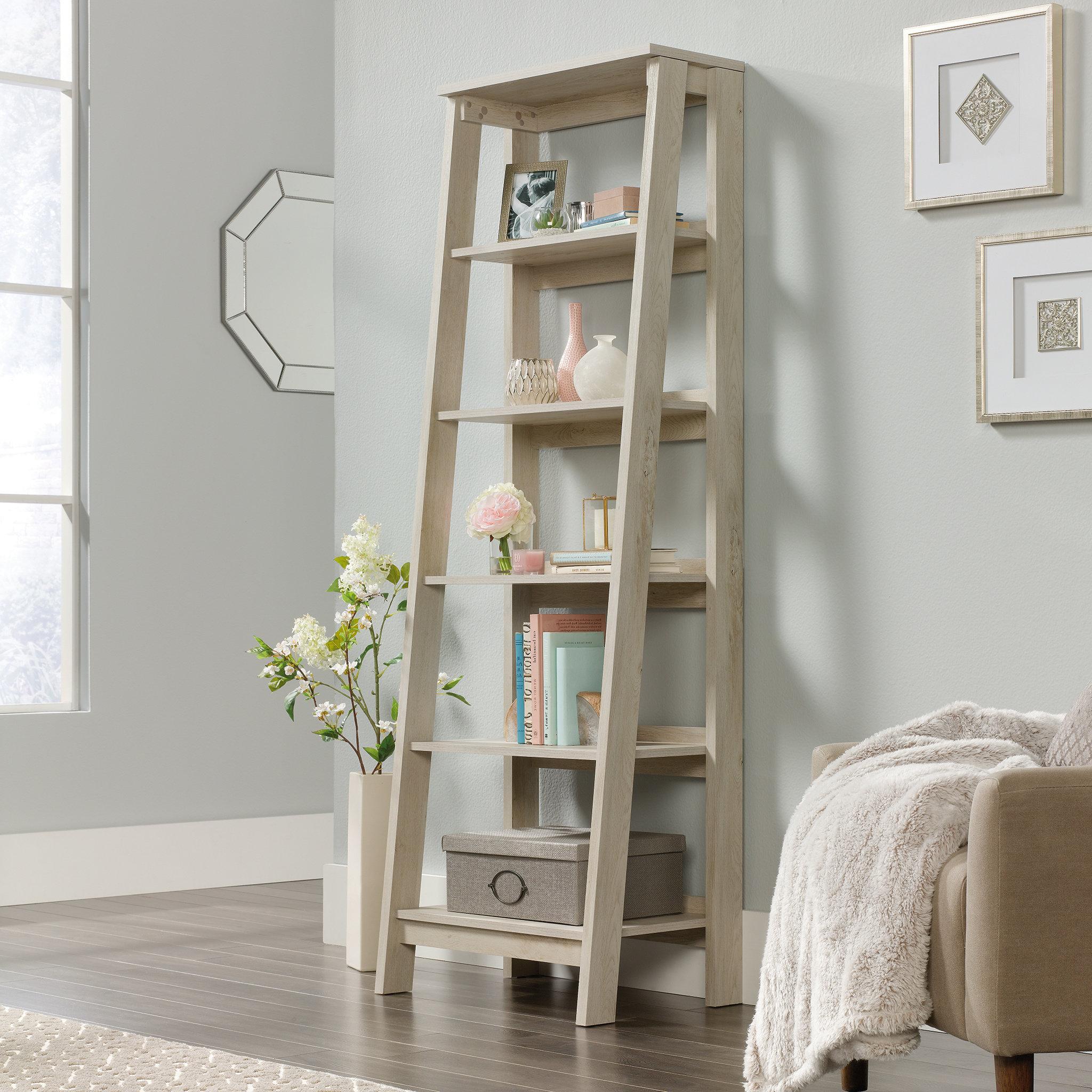 Well Known Three Posts Massena Ladder Bookcase Inside Massena Ladder Bookcases (View 19 of 20)