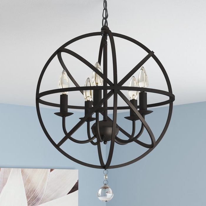 Well Known Verlene Foyer 5 Light Globe Chandelier Intended For Verlene Foyer 5 Light Globe Chandeliers (View 4 of 25)