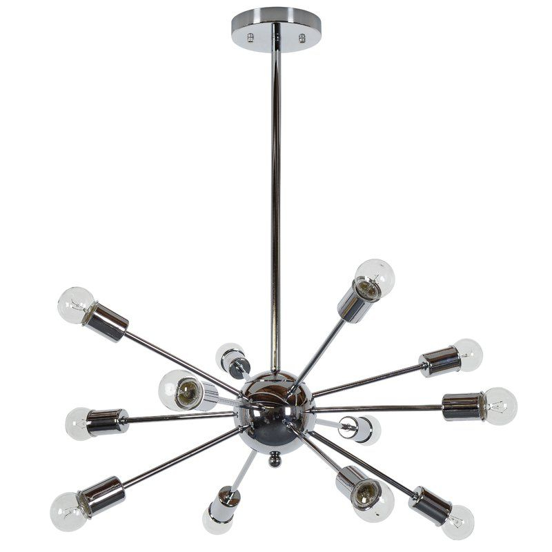 Well Known Vroman 12 Light Sputnik Chandeliers Intended For Vroman 12 Light Chandelier In  (View 22 of 25)