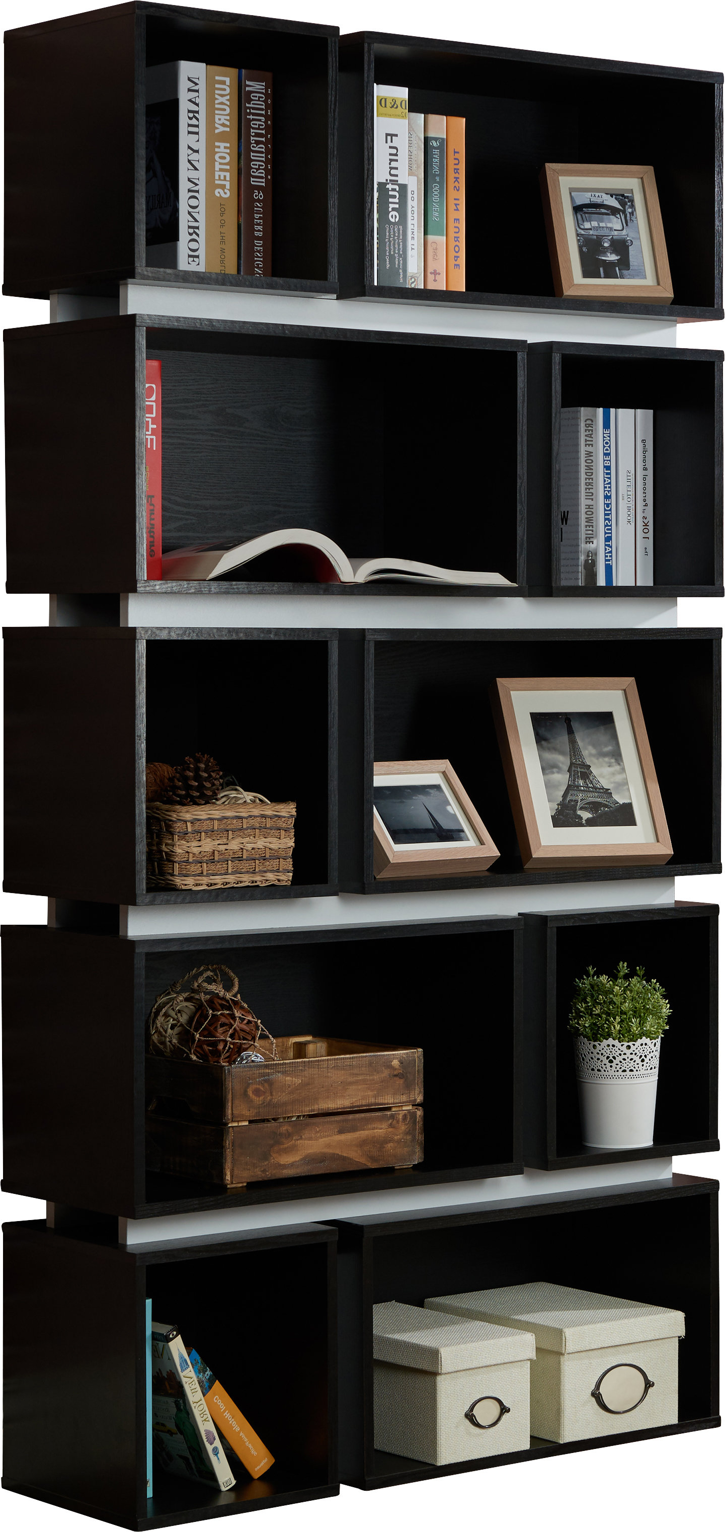 Well Known Wade Logan Bradberry Geometric Bookcase Regarding Bostic Geometric Bookcases (View 13 of 20)