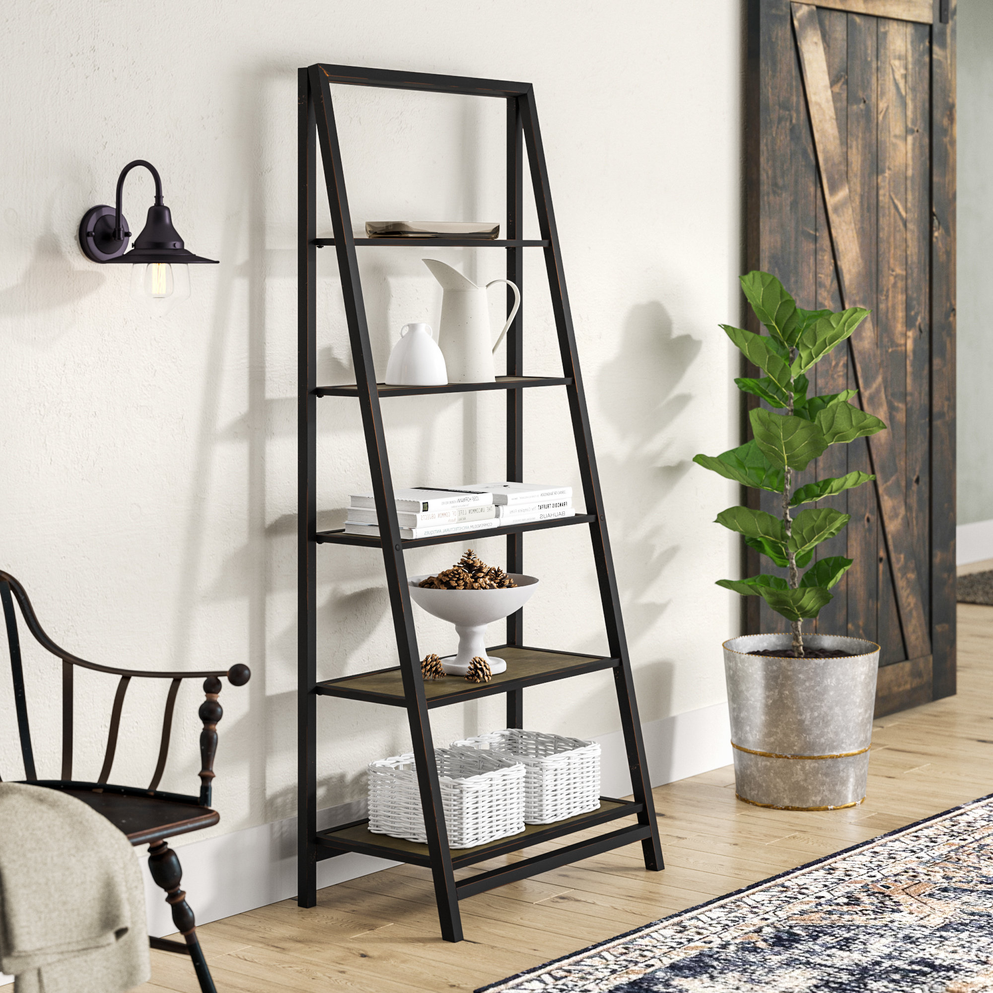 Well Known Walcott Ladder Bookcase In Blevens A Frame Ladder Bookcases (View 3 of 20)