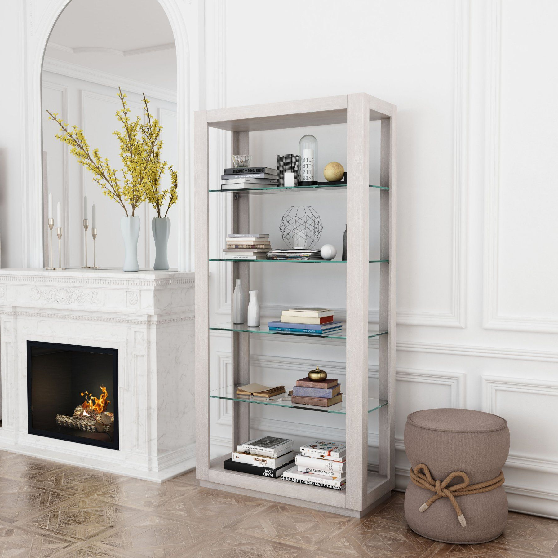 Well Known Zuo Modern Contemporary Beaumont Tall 6 Shelf Bookcase With Regard To Tinoco Storage Shelf Standard Bookcases (View 17 of 20)