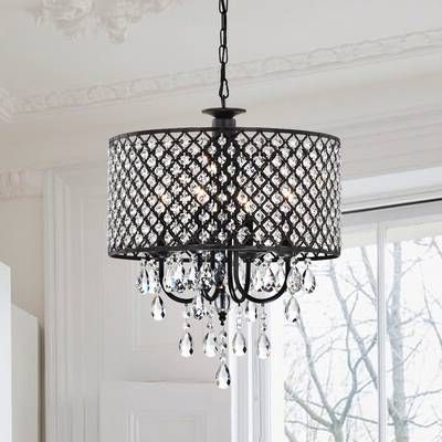 Well Liked Albano 4 Light Crystal Chandeliers In Aurore 4 Light Crystal Chandelier In (View 12 of 25)