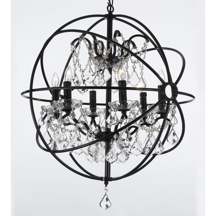 Well Liked Alden 6 Light Globe Chandeliers With Calderdale Orb 6 Light Globe Chandelier (View 21 of 25)