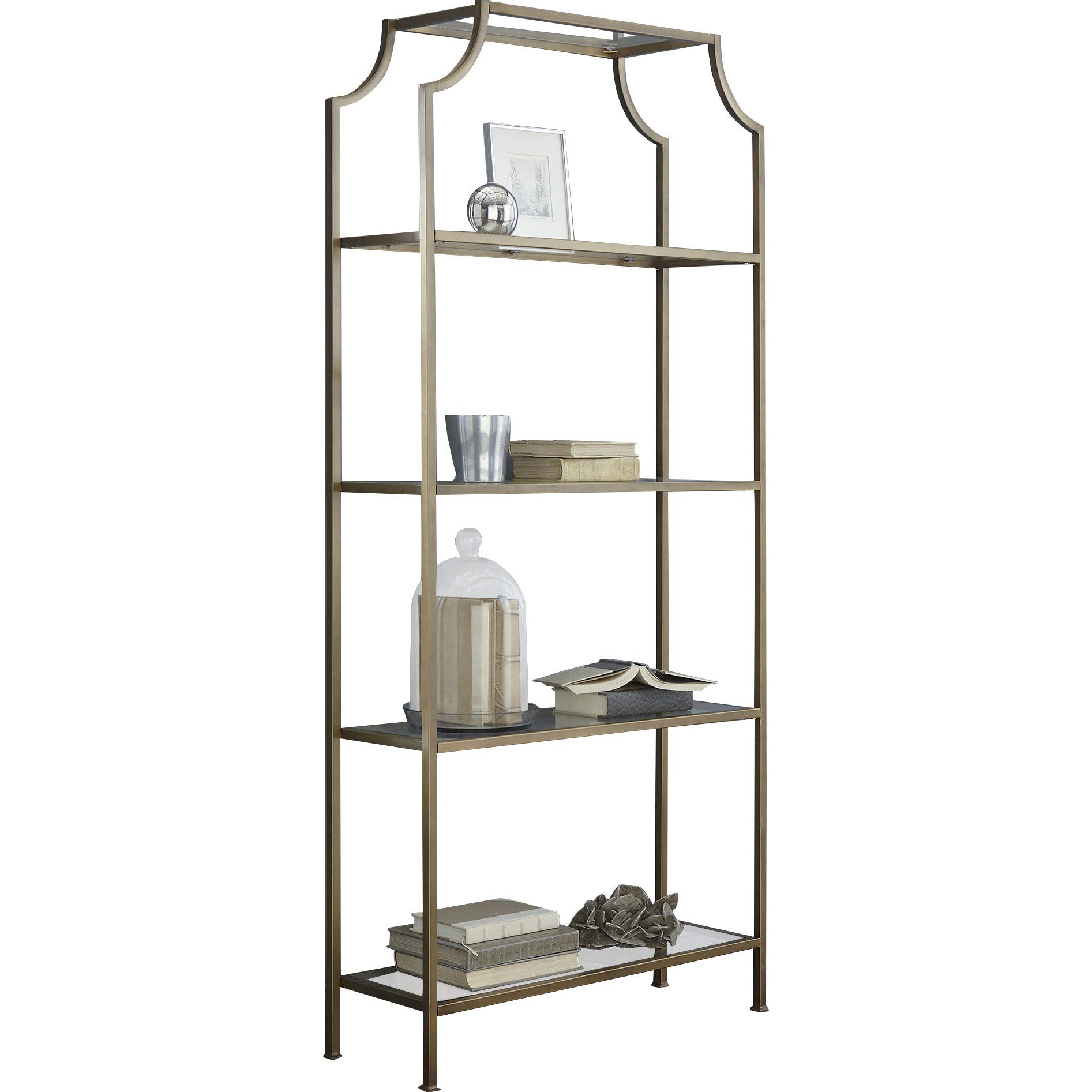 """Well Liked Birch Lane™ Buchanan 80"""" Etagere Bookcase (View 6 of 20)"""