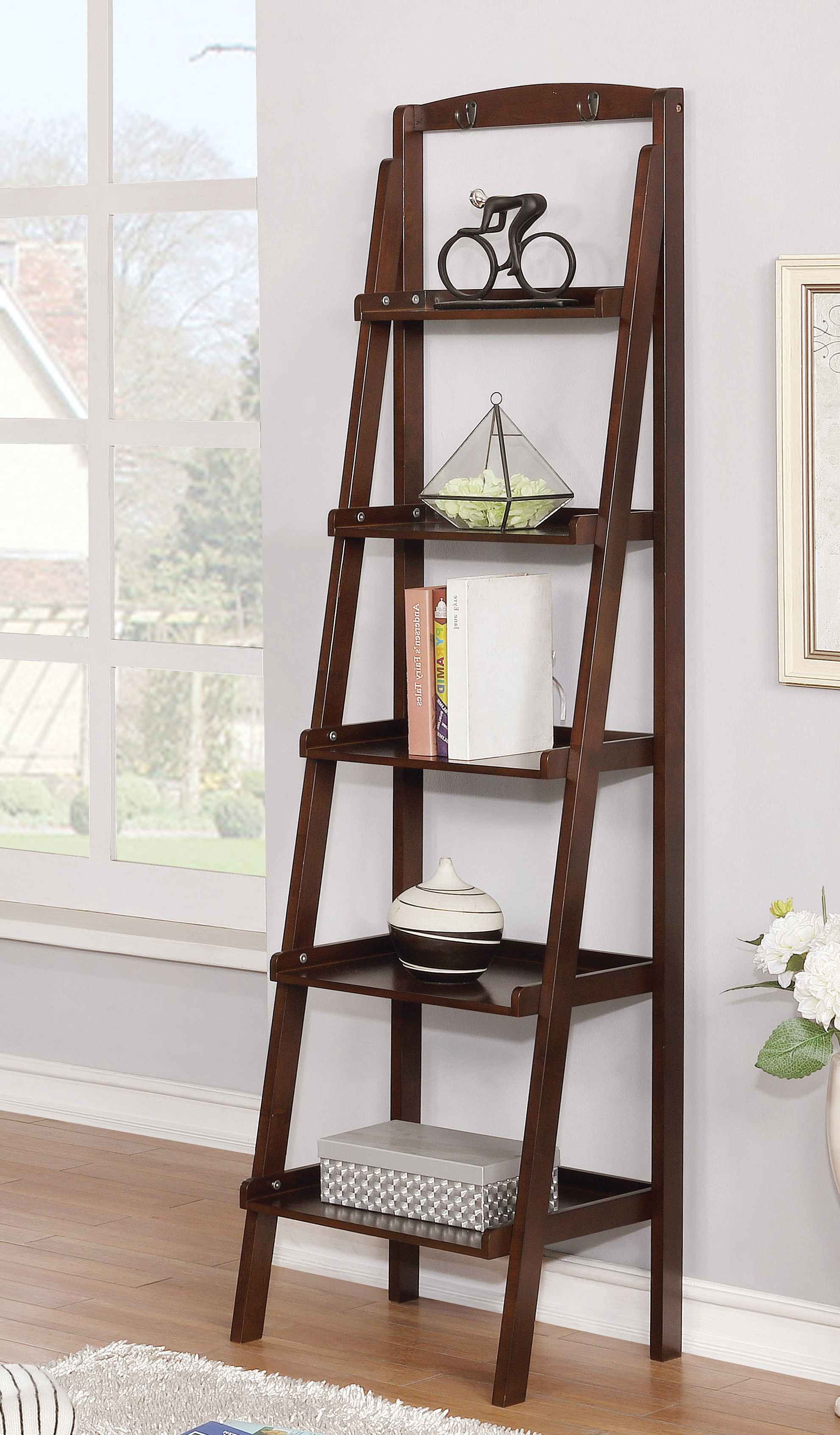 Well Liked Bordelon Slatted Ladder Bookcases For Shellie Ladder Bookcase (View 7 of 20)
