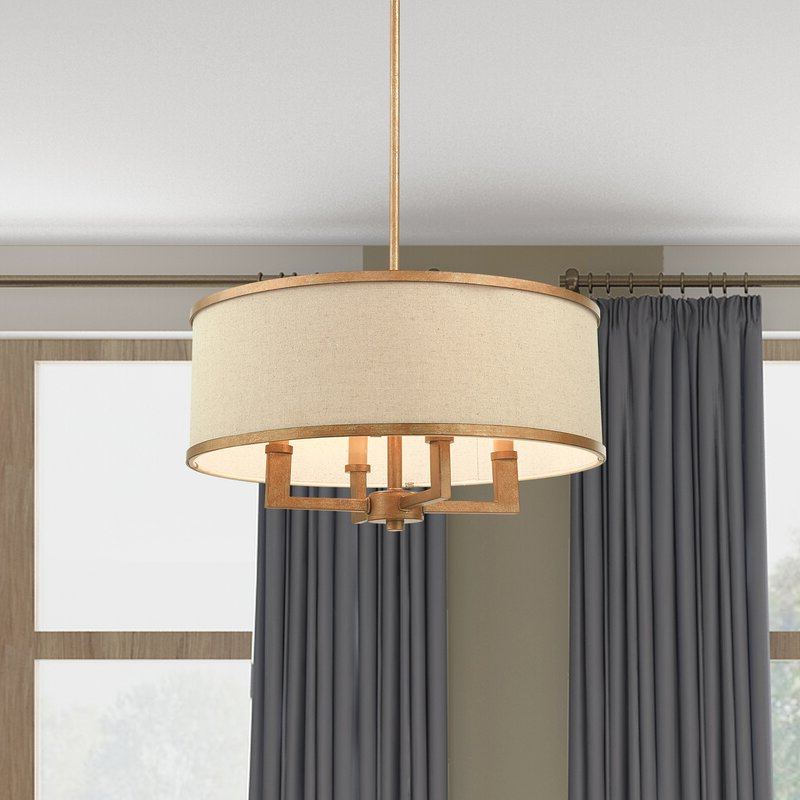 Well Liked Breithaup 4 Light Drum Chandelier With Regard To Breithaup 4 Light Drum Chandeliers (View 21 of 25)