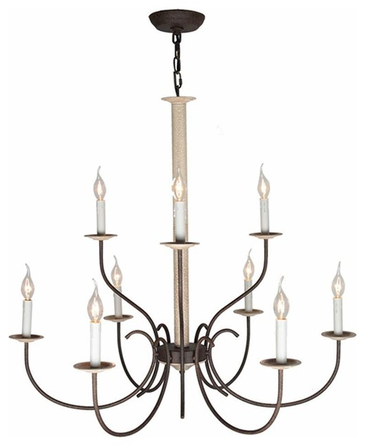 Well Liked Camilla 9 Light Candle Style Chandeliers In 9 Lights Rustic Candle Chandelier Lighting Metal Antique Pendant Light (View 23 of 25)