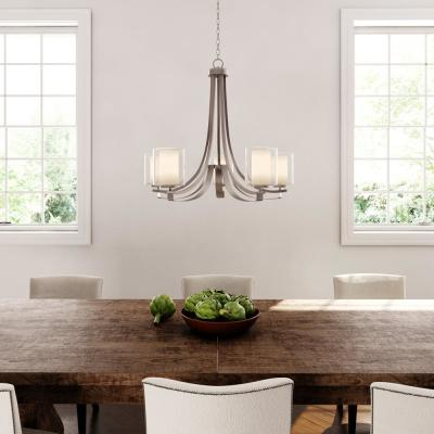 Well Liked Candle Style – Chandeliers – Lighting – The Home Depot With Regard To Corneau 5 Light Chandeliers (View 22 of 25)