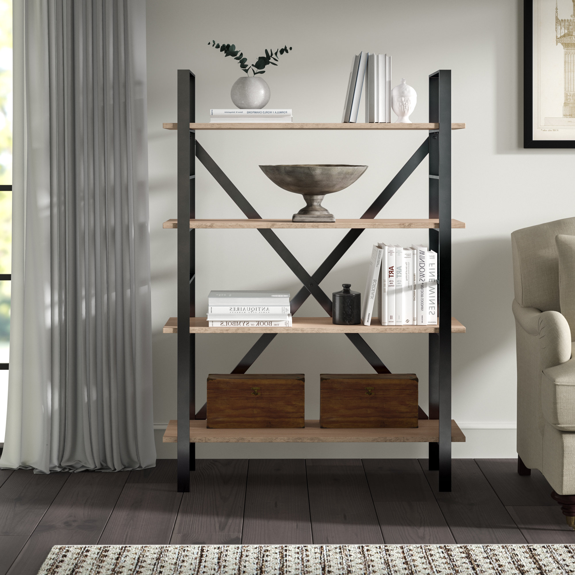Well Liked Earline Etagere Bookcases With Rhonda Etagere Bookcase (View 4 of 20)