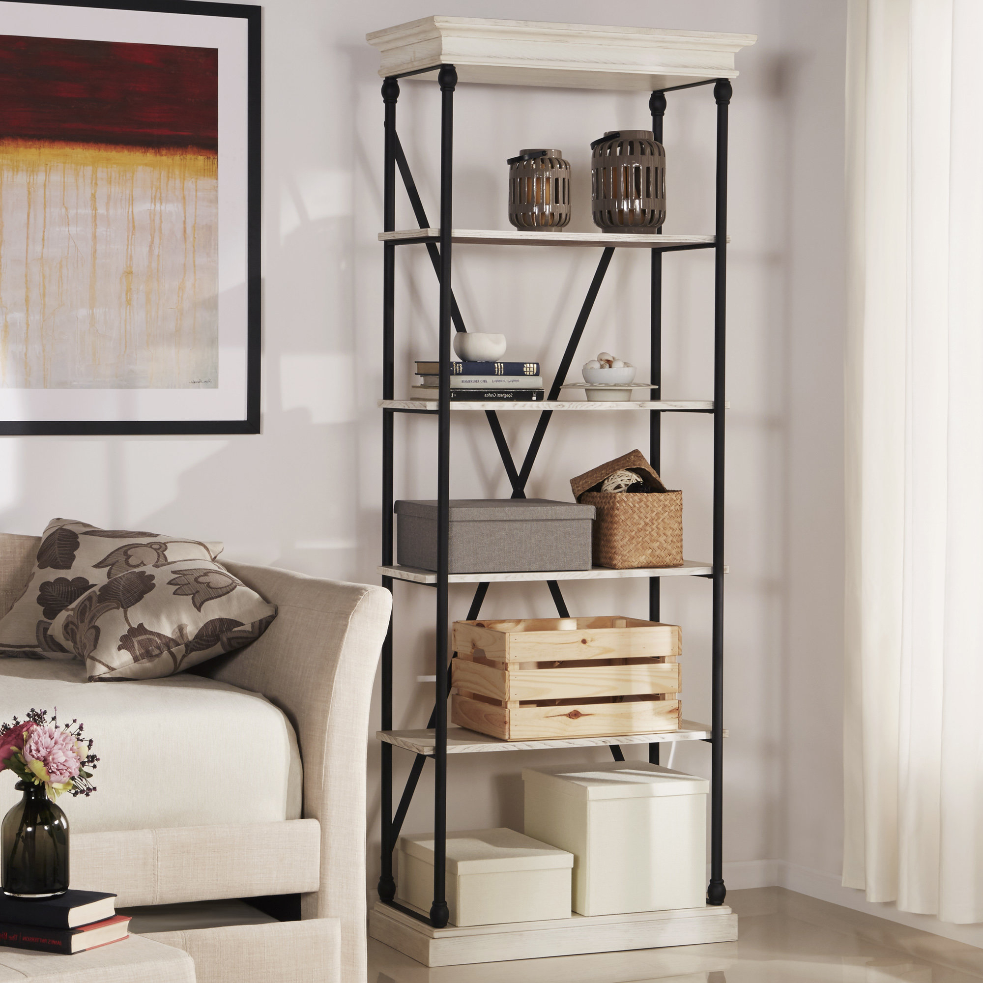 Well Liked Hera Etagere Bookcases For Poynor Etagere Bookcase (View 15 of 20)