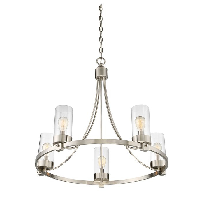 Well Liked Janette 5 Light Wagon Wheel Chandeliers With Regard To Janette 5 Light Wagon Wheel Chandelier (View 5 of 25)